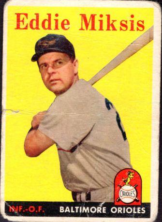 1958 Topps #121 Eddie Miksis