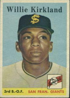 1958 Topps #128 Willie Kirkland RC