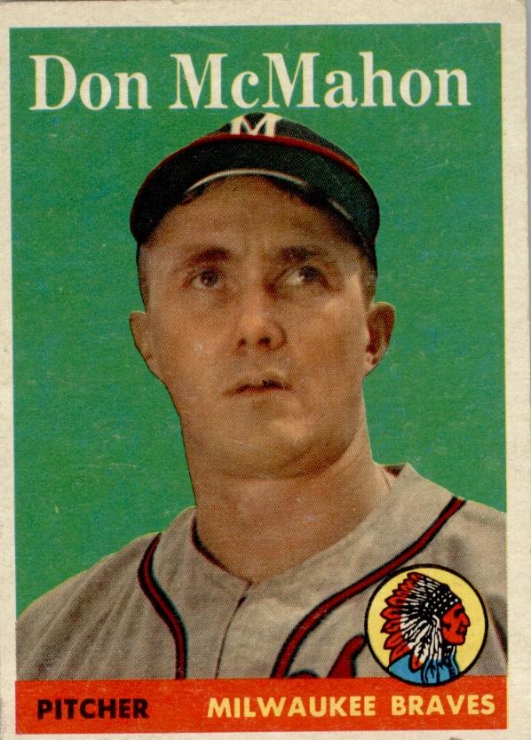 1958 Topps #147 Don McMahon RC