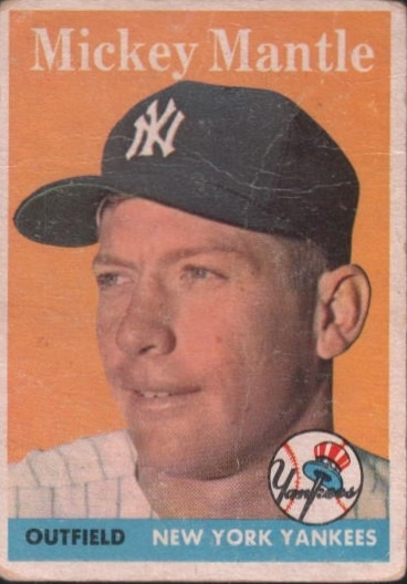 1958 Topps #150 Mickey Mantle