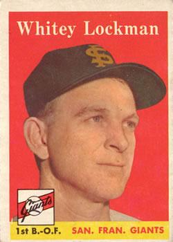 1958 Topps #195 Whitey Lockman
