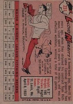 1958 Topps #231 Lloyd Merritt RC back image