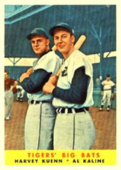 1958 Topps #304 Tigers Big Bats/Harvey Kuenn/Al Kaline
