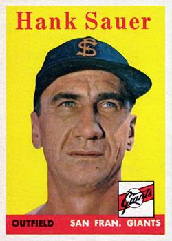 1958 Topps #378 Hank Sauer