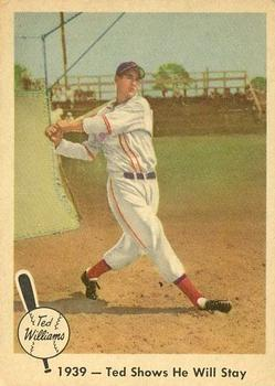 1959 Fleer Ted Williams #13 1939 Shows Will Stay