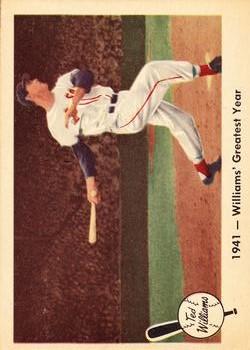 1959 Fleer Ted Williams #16 1941 Greatest Year