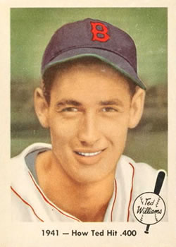 1959 Fleer Ted Williams #17 How Ted Hit .400