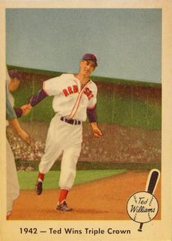 1959 Fleer Ted Williams #19 Ted Wins Triple Crown