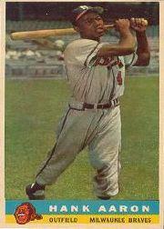 1959 Bazooka #1 Hank Aaron White Name