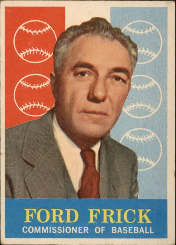 1959 Topps #1 Ford Frick COMM