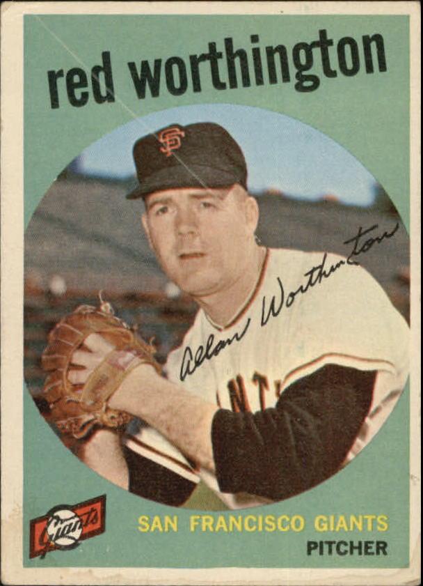 1959 Topps #28 Al Worthington