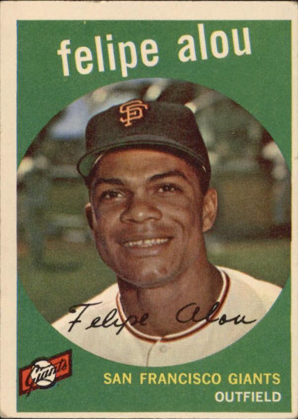 1959 Topps #102 Felipe Alou RC