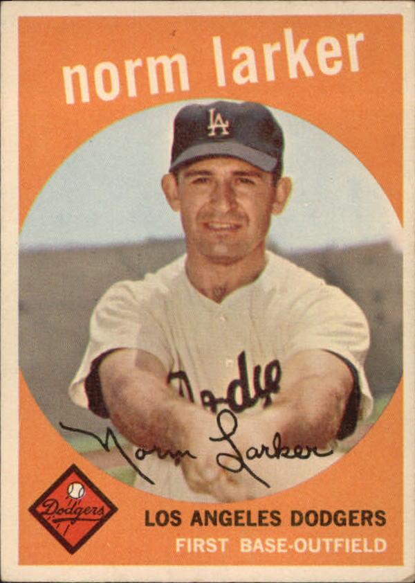 1959 Topps #107 Norm Larker RC