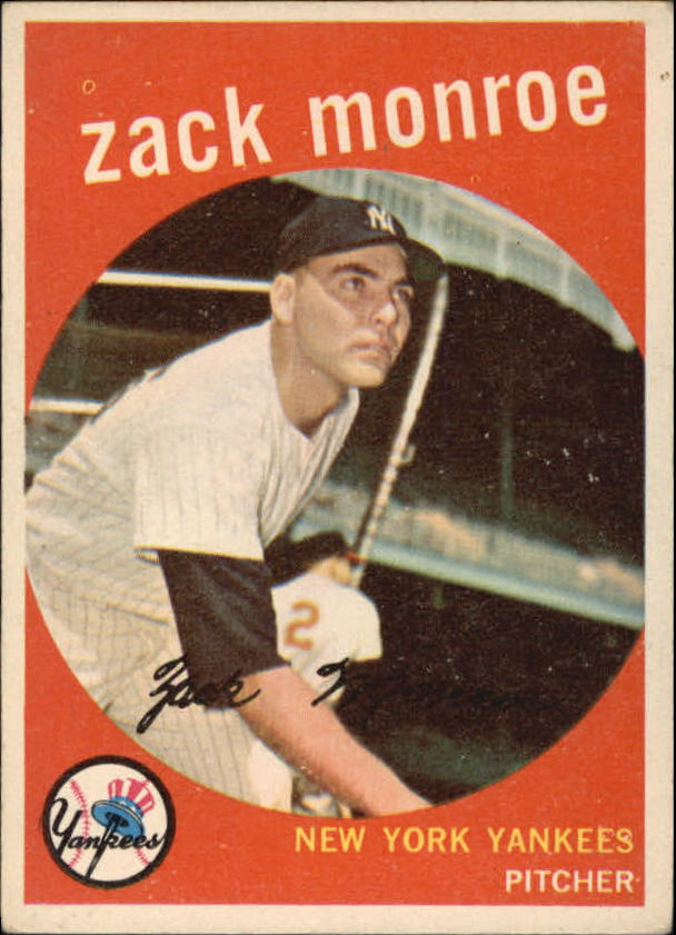 1959 Topps #108 Zack Monroe RC