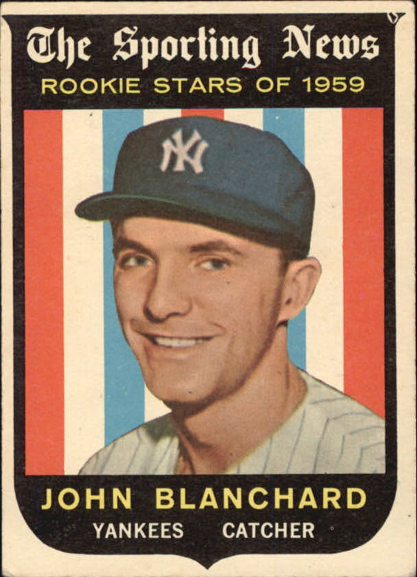 1959 Topps #117 John Blanchard RS RC