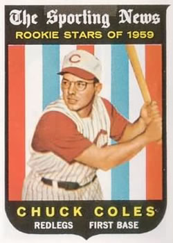1959 Topps #120 Chuck Coles RS RC