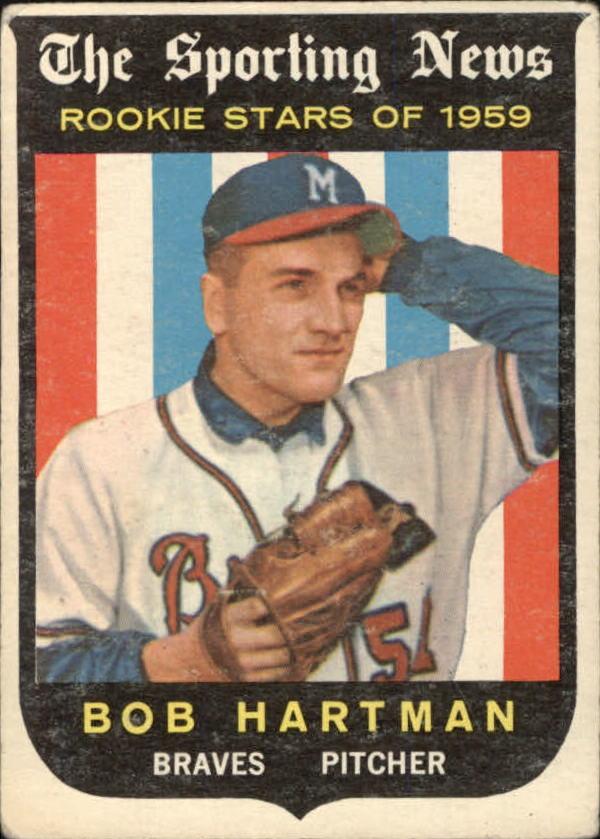 1959 Topps #128 Bob Hartman RS RC