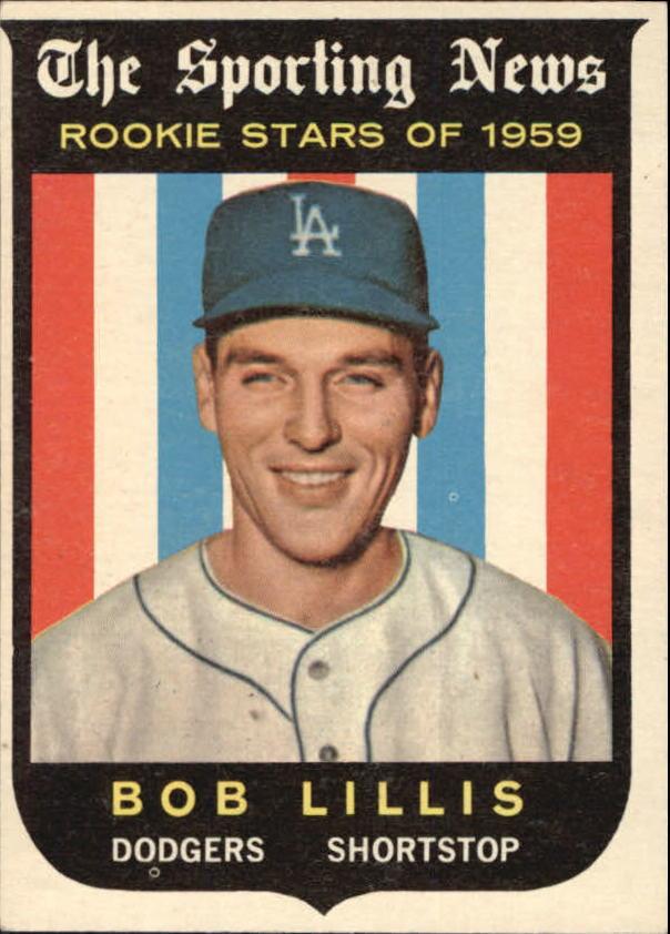 1959 Topps #133 Bob Lillis RS RC