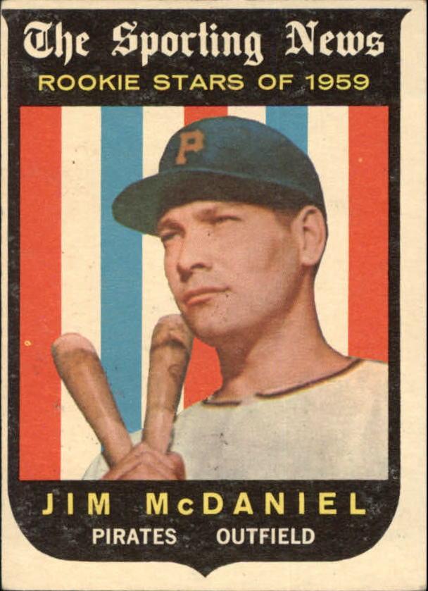 1959 Topps #134 Jim McDaniel RS RC