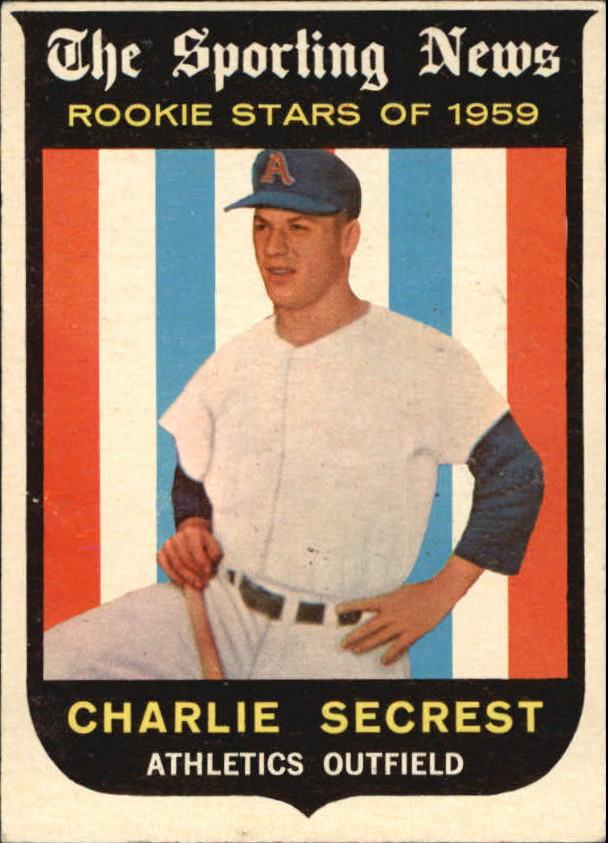 1959 Topps #140 Charlie Secrest RS RC
