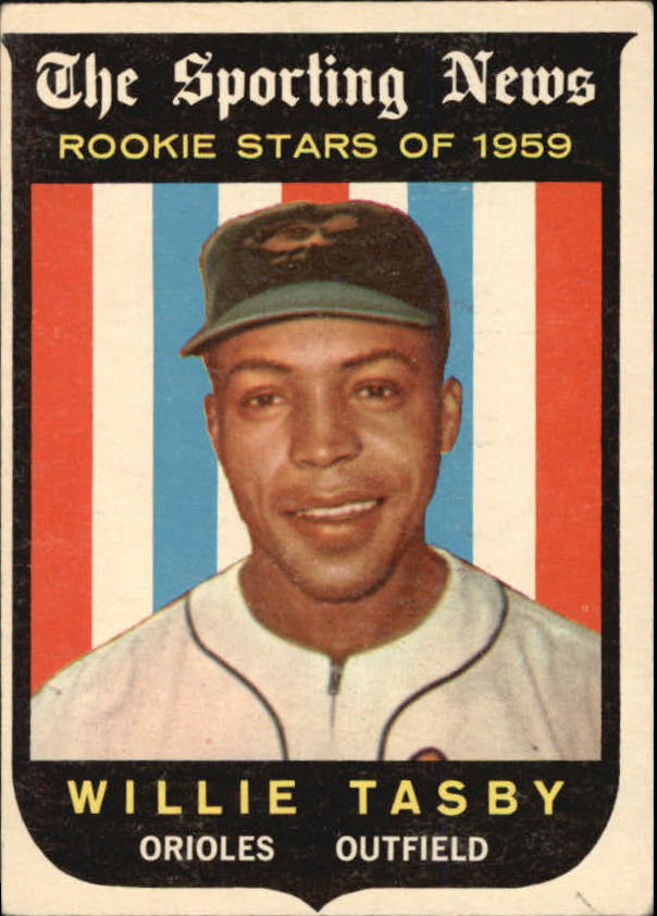 1959 Topps #143 Willie Tasby RS RC