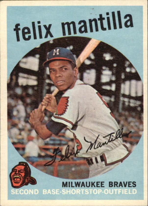 1959 Topps #157 Felix Mantilla