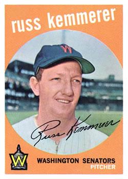 1959 Topps #191 Russ Kemmerer
