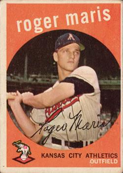 1959 Topps #202 Roger Maris