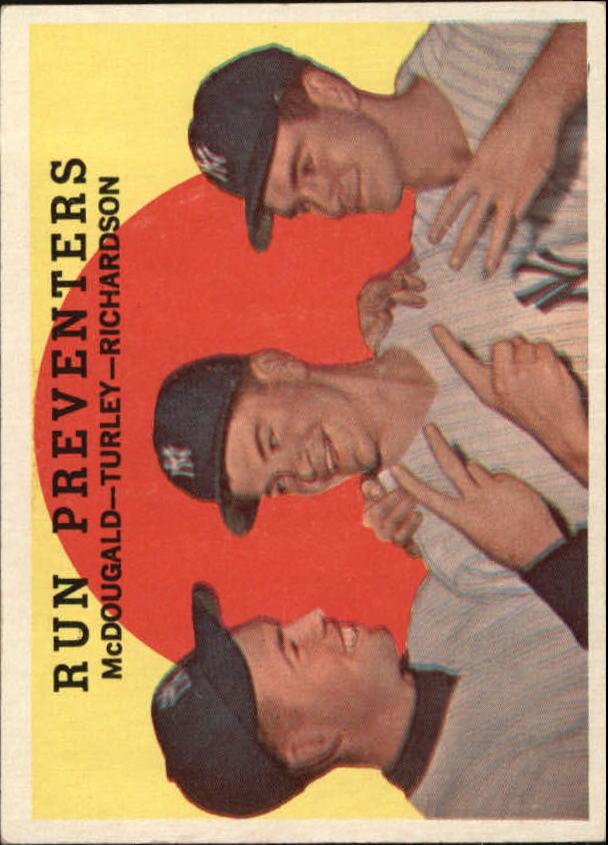 1959 Topps #237 Run Preventers/Gil McDougald/Bob Turley/Bobby Richardson