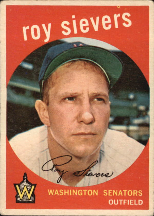 1959 Topps #340 Roy Sievers