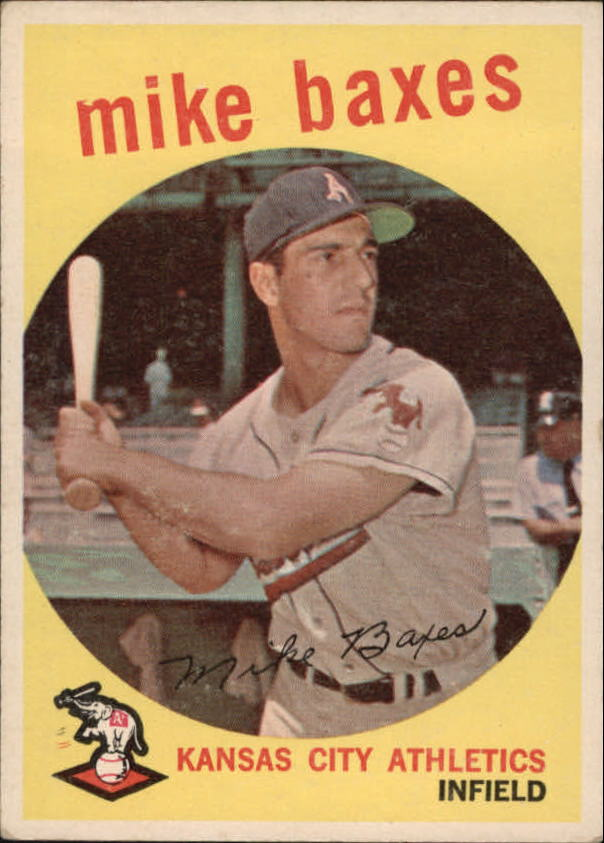 1959 Topps #381 Mike Baxes