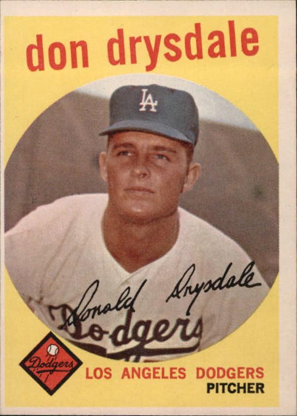 1959 Topps #387 Don Drysdale