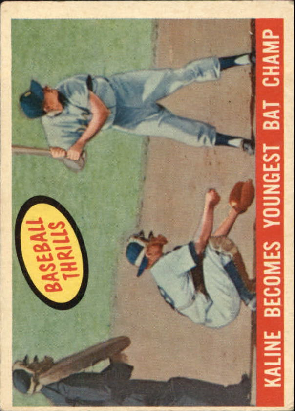 1959 Topps #463 Al Kaline BT/Bat Champ
