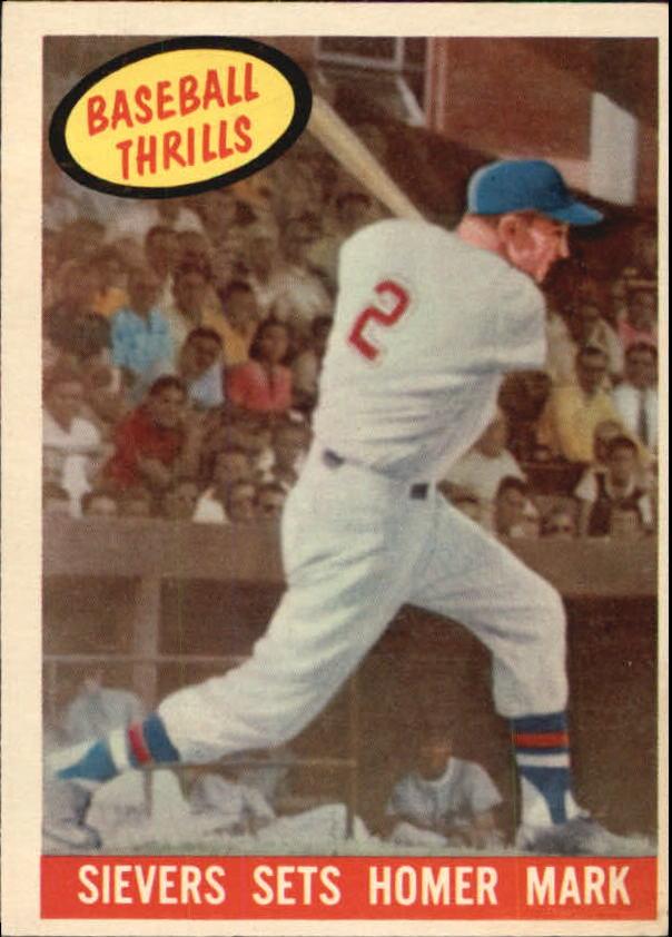 1959 Topps #465 Roy Sievers BT/Homer Mark