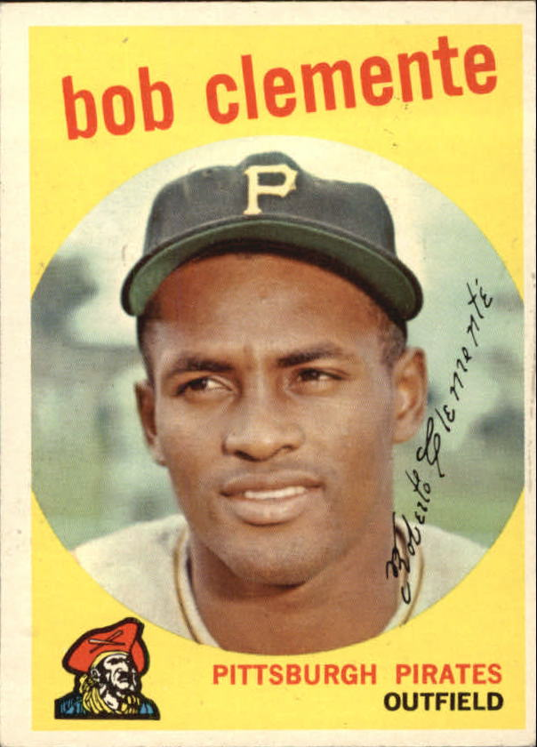 1959 Topps #478 Roberto Clemente UER/The words the best run together