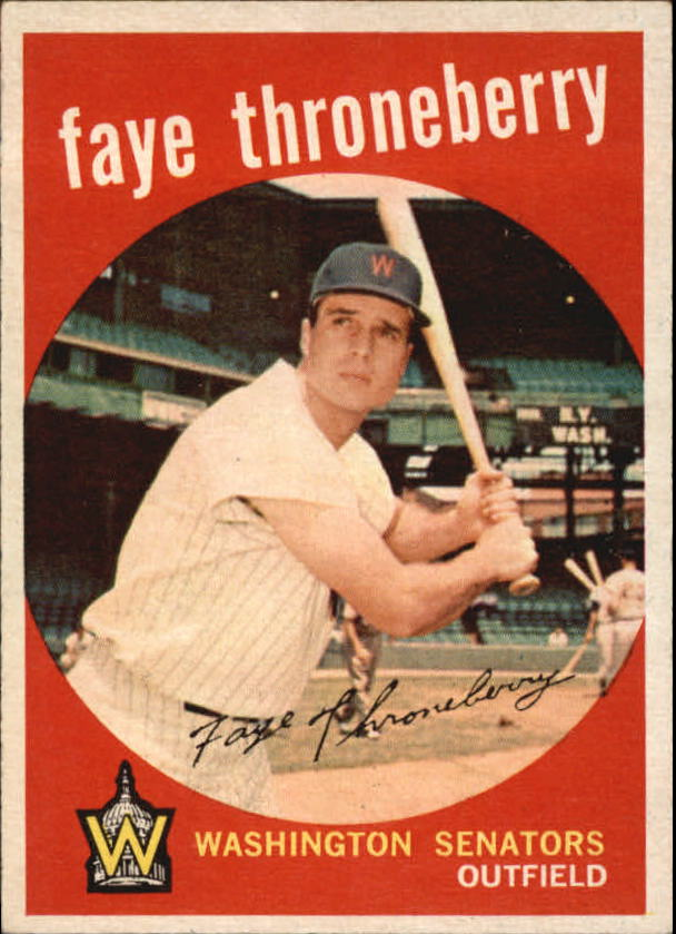 1959 Topps #534 Faye Throneberry
