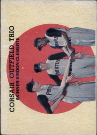 1959 Topps #543 Corsair Trio/Bob Skinner/Bill Virdon/Roberto Clemente