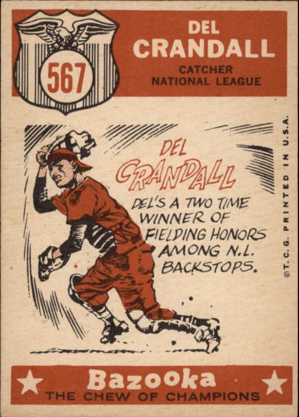 1959 Topps #567 Del Crandall AS back image