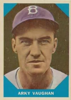 1960 Fleer #11 Arky Vaughan DP