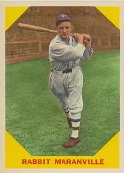1960 Fleer #21 Rabbit Maranville DP