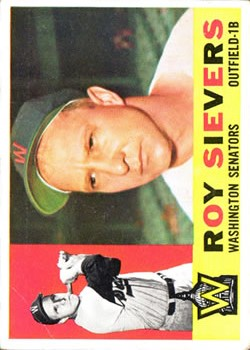 1960 Topps #25 Roy Sievers