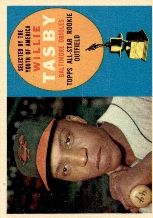 1960 Topps #322 Willie Tasby ASR