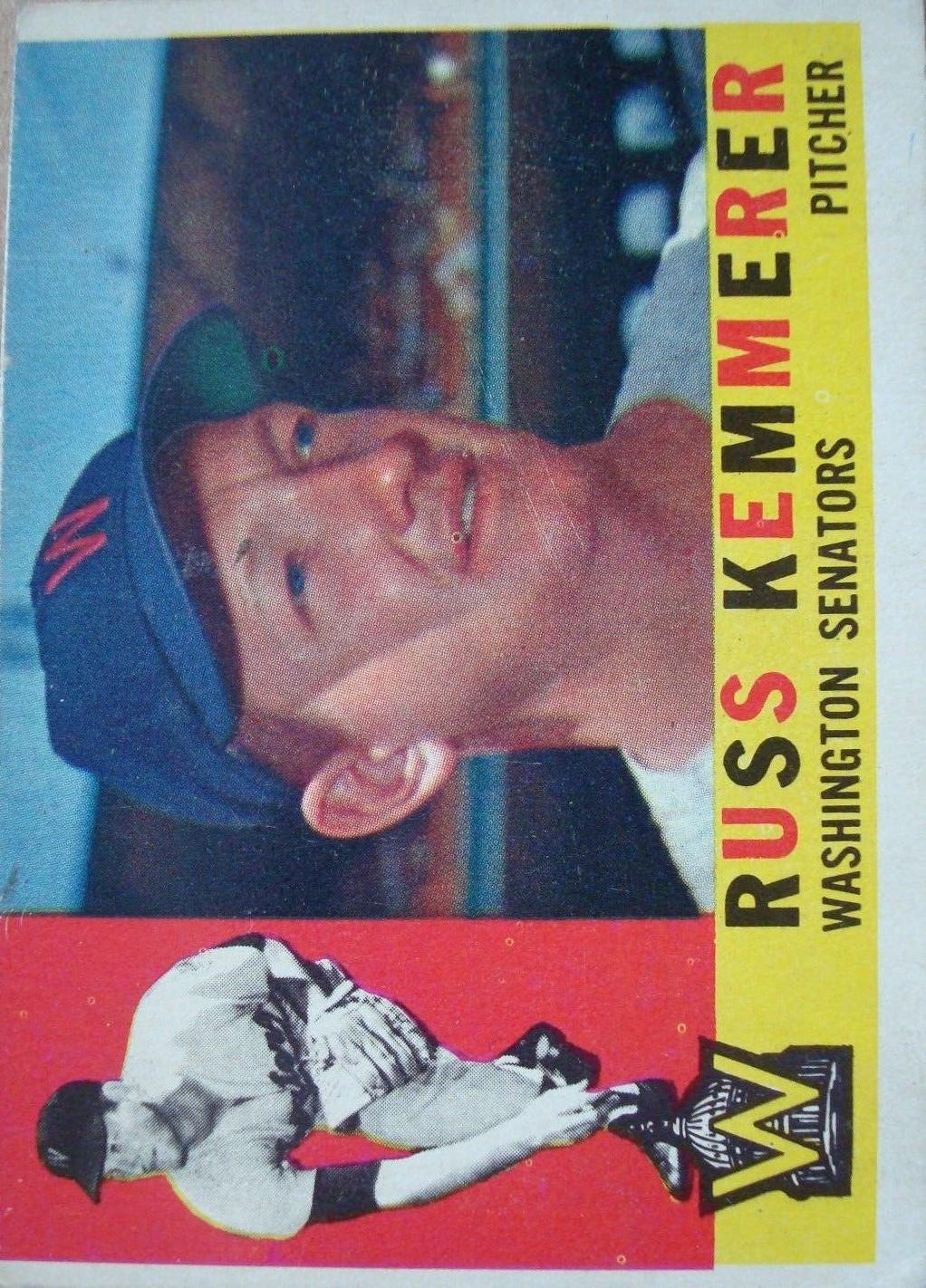1960 Topps #362 Russ Kemmerer