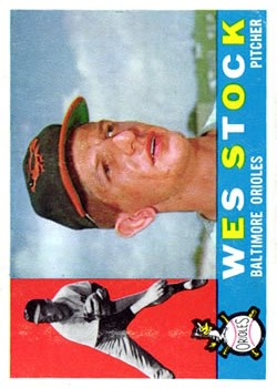 1960 Topps #481 Wes Stock RC
