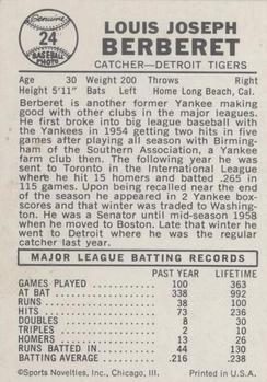 1960 Leaf #24 Lou Berberet back image