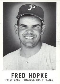 1960 Leaf #91 Fred Hopke RC