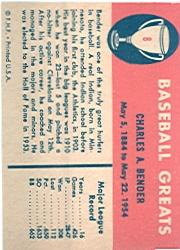 1961 Fleer #8 Chief Bender back image