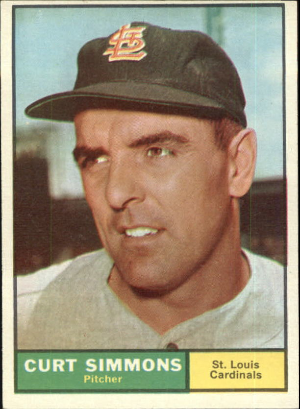 1961 Topps #11 Curt Simmons