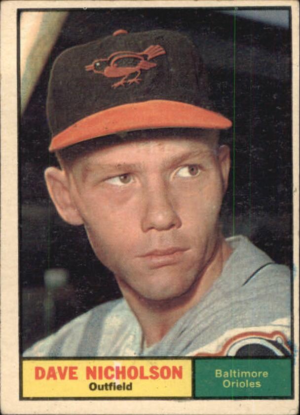 1961 Topps #182 Dave Nicholson RC