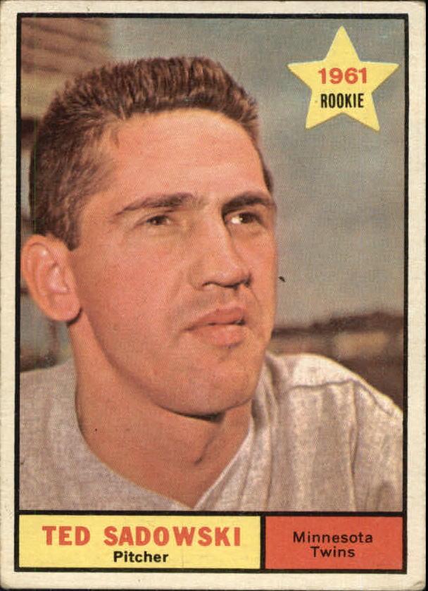 1961 Topps #254 Ted Sadowski RC